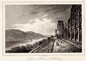 Schlossterrasse mit Blick auf den Neckar.: HEIDELBERG: