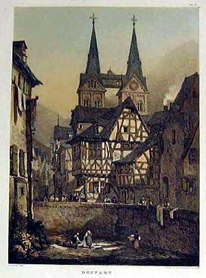 Teilansicht mit Pfarrkirche.: BOPPARD:
