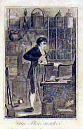 Tin Plate worker.: KLEMPNER: