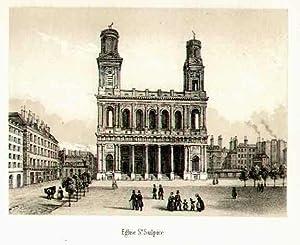 Eglise St. Sulpice.: FRANKREICH: Paris: