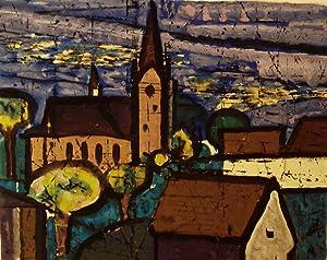 Dorf mit Kirche.: SCHREIBER Otto-Andreas 1907 - 1978,