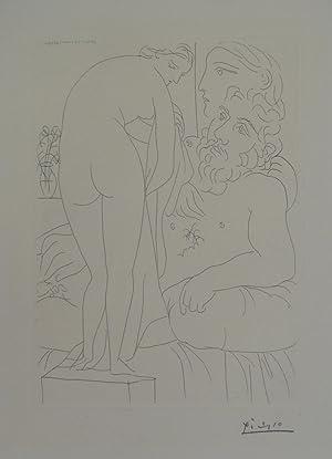 Le Repos du Sculpteur devant un Nu: PICASSO, Pablo 1881
