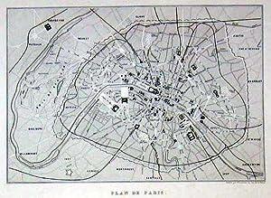 Stadtplan - Plan de Paris.: FRANKREICH: Paris:
