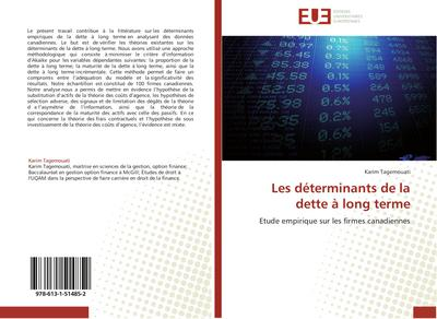 Les déterminants de la dette à long terme : Etude empirique sur les firmes canadiennes - Karim Tagemouati