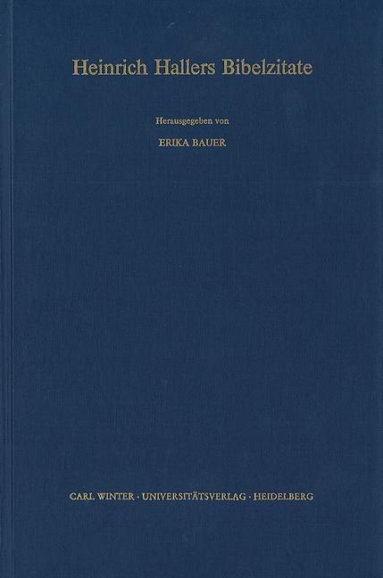 Heinrich Hallers Bibelzitate - Erika Bauer