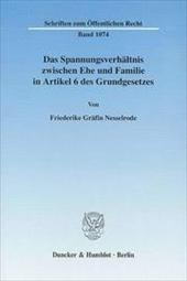 Das Spannungsverhältnis zwischen Ehe und Familie in: Friederike Gräfin Nesselrode