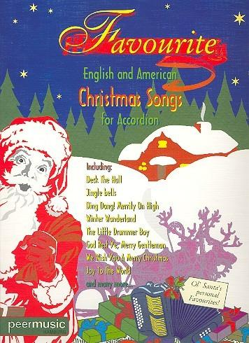 Favourite English and American Christmas Songs :for accordion