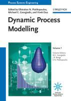 Process Systems Engineering 7 : Dynamic Process Modeling - Julio R. Banga