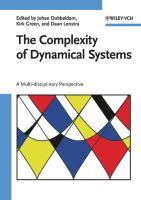The Complexity of Dynamical Systems : A Multi-disciplinary Perspective - Johan Dubbeldam