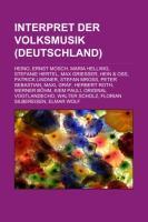 9781159070762 - Interpret der Volksmusik (Deutschland) - Book