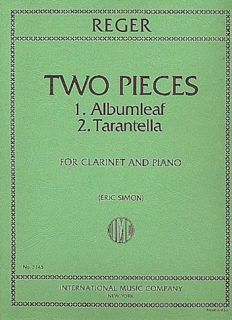 2 Pieces : for clarinet and piano: Max Reger