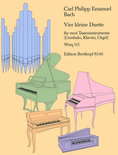 4 kleine Duette WQ115 : für2 Klaviere: Carl Philipp Emanuel
