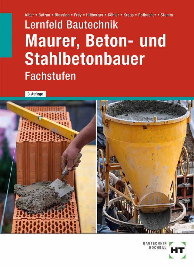 Arbeitsheft Lernfeld Bautechnik Maurer Fachstufen Taschenbuch – 4 ...