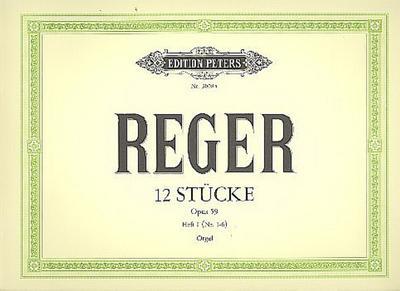 12 Orgelstücke op.59 Band 1: Max Reger