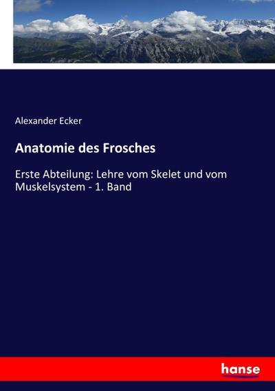 anatomie des frosches von ecker - ZVAB