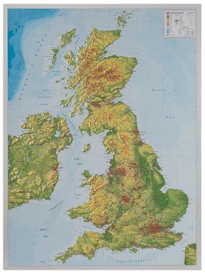Relief Großbritanien 1:400.000 mit Aluminiumrahmen: André Markgraf
