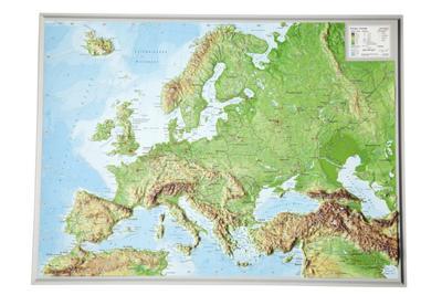 Europa klein 1:16.000.000: Reliefkarte Europa klein Din: André Markgraf