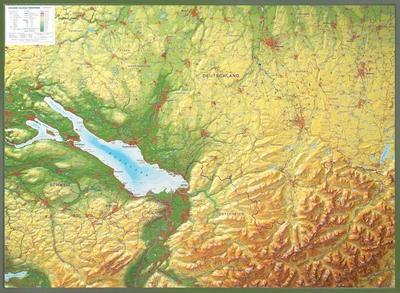 Relief Allgäu Bodensee 1:200.000 mit Holzrahmen: Andrè Markgraf