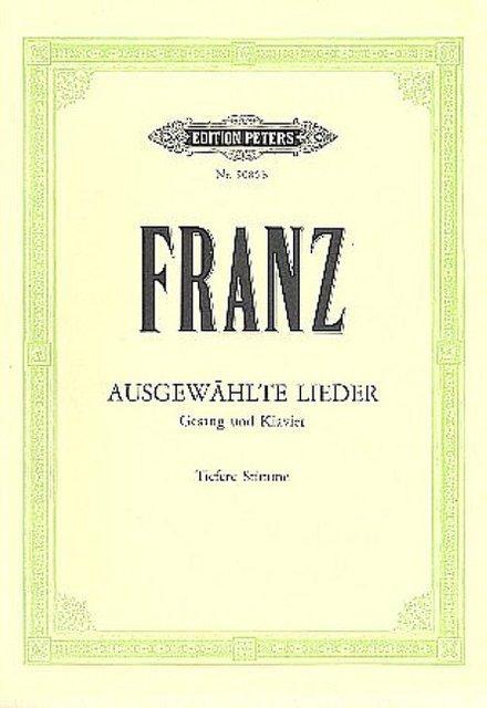 Band 1 Ausgewählte Lieder Mezzo-sopran Oder Bariton Franz Abt Abt Album.