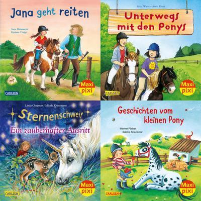 Maxi-Pixi-Serie Nr. 70: Pferde und Ponys (4x5: Susa Hämmerle