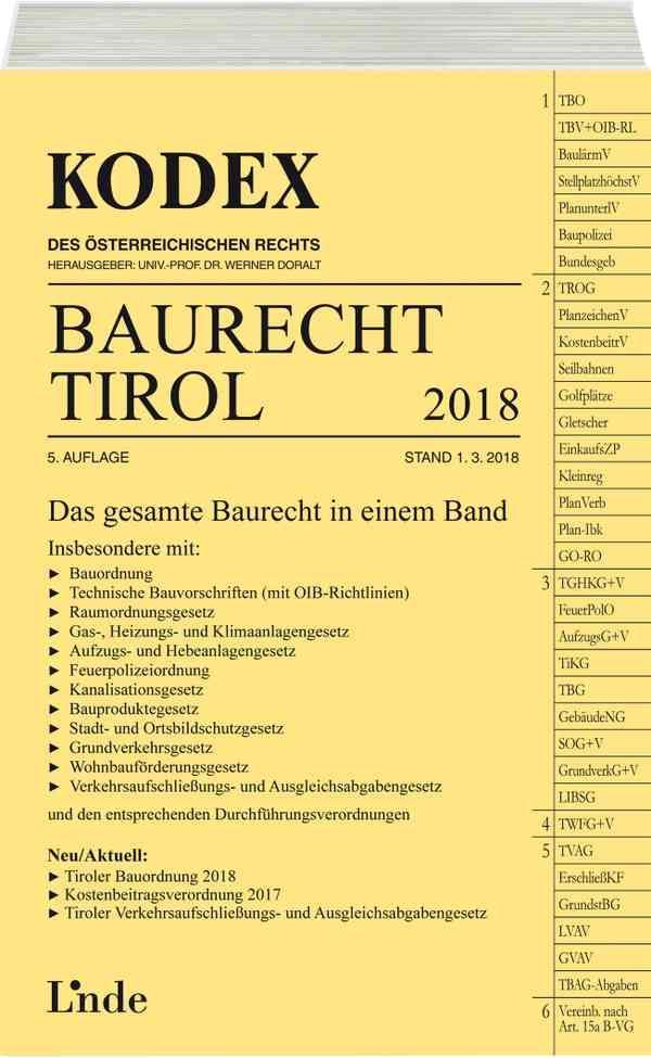 Baurecht Tirol 2018 - Barbara Gstir