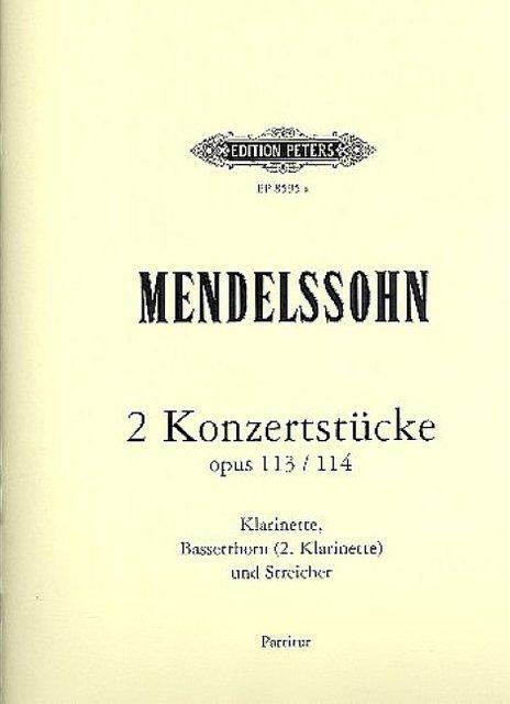 2 Konzertstücke op.113 und op.114für Klarinette, Bassetthorn: Felix Mendelssohn-Bartholdy