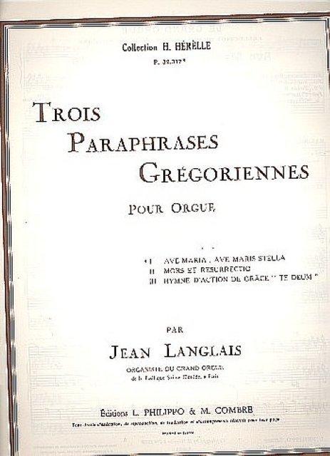 Ave Maria ave maris stellaop.5,1 : pour: Jean Langlais