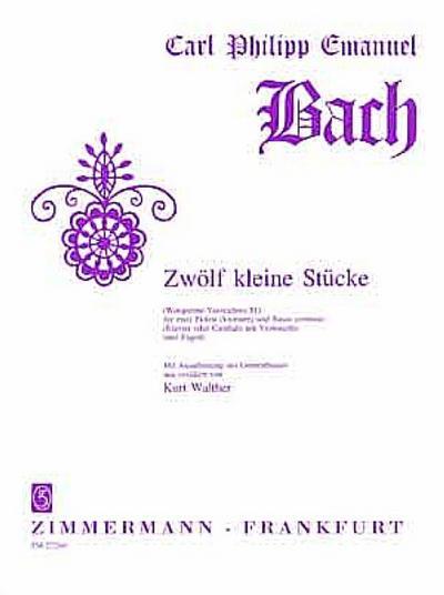 12 kleine Stücke Wq81 :für 2 Flöten: Carl Philipp Emanuel