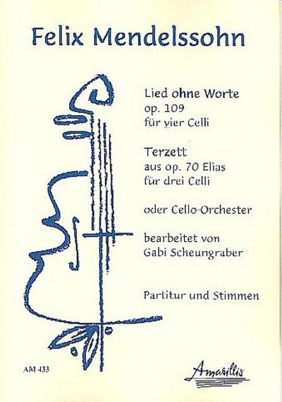 2 Stücke für 3-4 Violoncelli (Ensemble)Partitur und: Felix Mendelssohn-Bartholdy