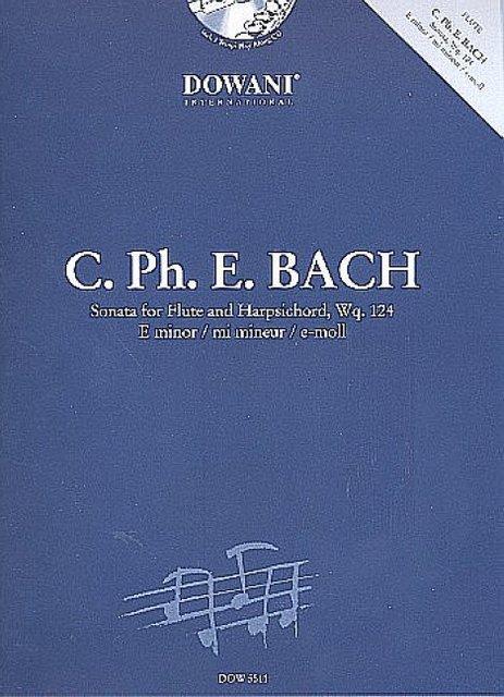 Sonate e-Moll Wq124 (+CD) :für Flöte und Cembalo (Klavier) - Carl Philipp Emanuel Bach