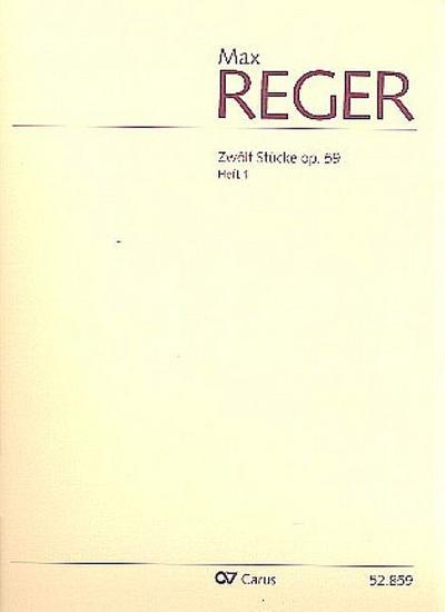 12 Stücke op.59 Band 1 (Nr.1-6) :für: Max Reger