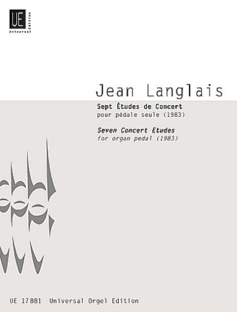 7 Konzertetüden :für Orgelpedal: Jean Langlais