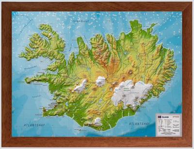 Relief Island klein 1:500.000 Holzrahmen: André Markgraf