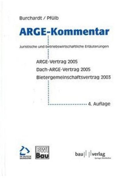 Arge Kommentar Arge Vertrag 2005 Dach Arge Vertrag 2005