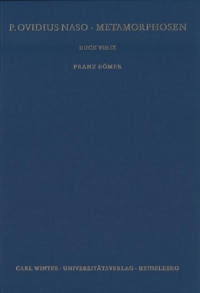 Buch VIII-IX - Franz Bömer
