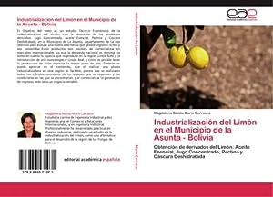 Industrialización del Limón en el Municipio de: Magdalena Benita Marin