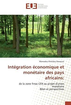Intégration économique et monétaire des pays africains: Mamadou Khalidou BASSOUM
