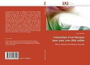 Interaction d'un faisceau laser avec une cible: Kenza Yahiaoui