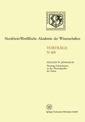 Neuartige Lebensformen an den Thermalquellen der Tiefsee: Holger W. Jannasch