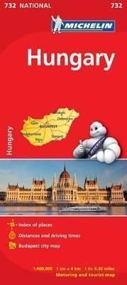 Hungary - Michelin National Map 732 : Map: Michelin