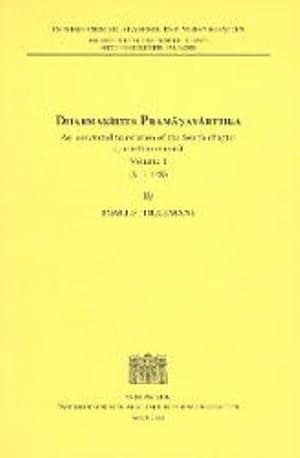 Dharmakirtis Pramanavarttika : An annotated translation of: Tom J Tillemans
