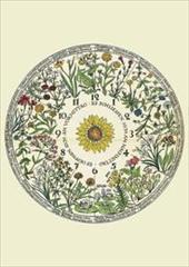 Kartenset Blumenuhr