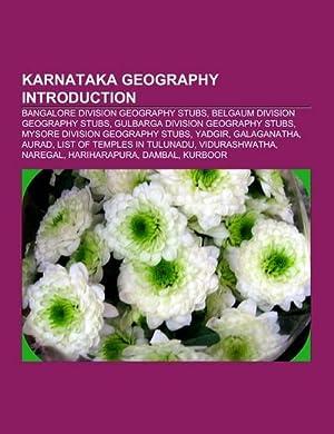 Karnataka geography Introduction : Bangalore Division geography