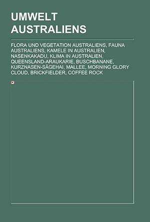 Umwelt Australiens : Flora und Vegetation Australiens,