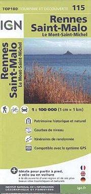 IGN 1 : 100 000 Rennes Saint-Malo