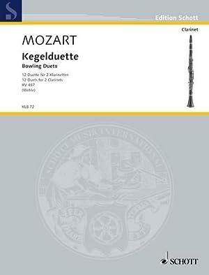 Kegelduette, für 2 Klarinetten, Spielpartitur : 12 Duette KV 487. 2 Klarinetten oder andere ...