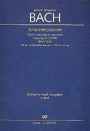 Johannespassion BWV 245 (Fassung 4), Klavierauszug : Johann Sebastian Bach