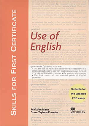 Skills For First Certificate Use of English.: Malcolm Mann