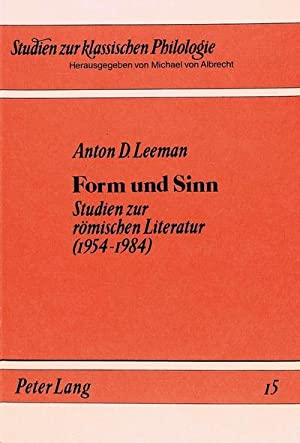 Form und Sinn : Studien zur römischen: Anton D. Leeman