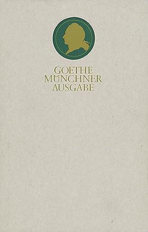 Sämtliche Werke nach Epochen seines Schaffens, Münchner Ausgabe Briefwechsel zwischen Goethe und ...